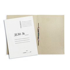 Скоросшиватель картонный Attache Дело № А4 до 200 листов белый (плотность 380 г/кв.м)