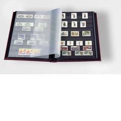 Альбом для марок на 32 страницы, без шубера (защитной касеты). Промежуточные листы - пергамент. Производство Leuchtturm, Германия