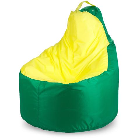 Внешний чехол Кресло-мешок комфорт  145x90x90, Оксфорд Зеленый и желтый