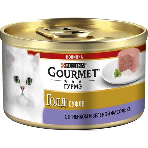 Gourmet Gold консервы для кошек ягненок/фасоль 85г