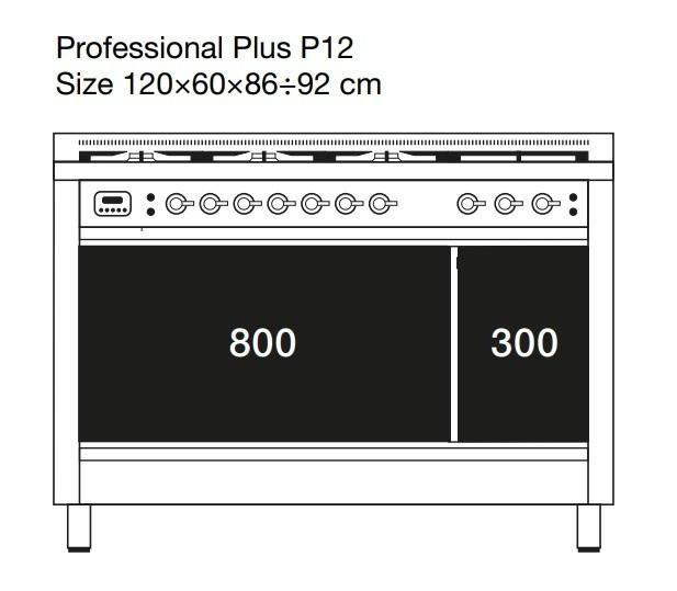 Газовая плита ILVE P12FNE3