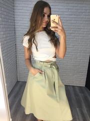 длинная зеленая юбка купить