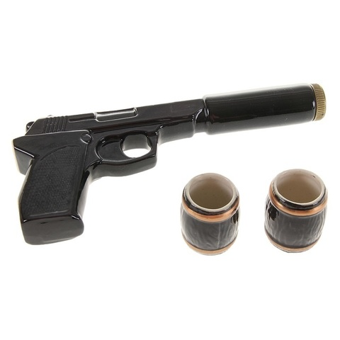 Набор «Пистолет с глушителем» 3 предмета 0,3 л