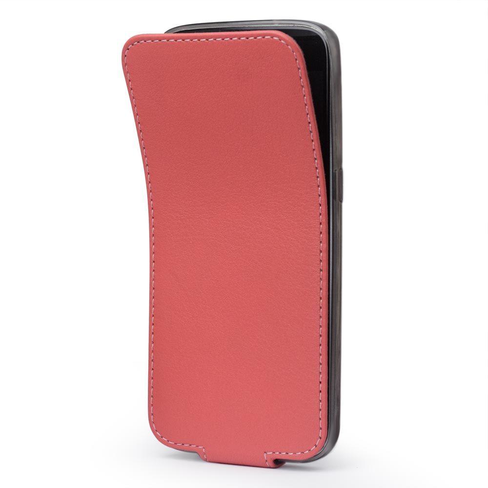 Чехол для Samsung Galaxy S7 из натуральной кожи теленка, кораллового цвета