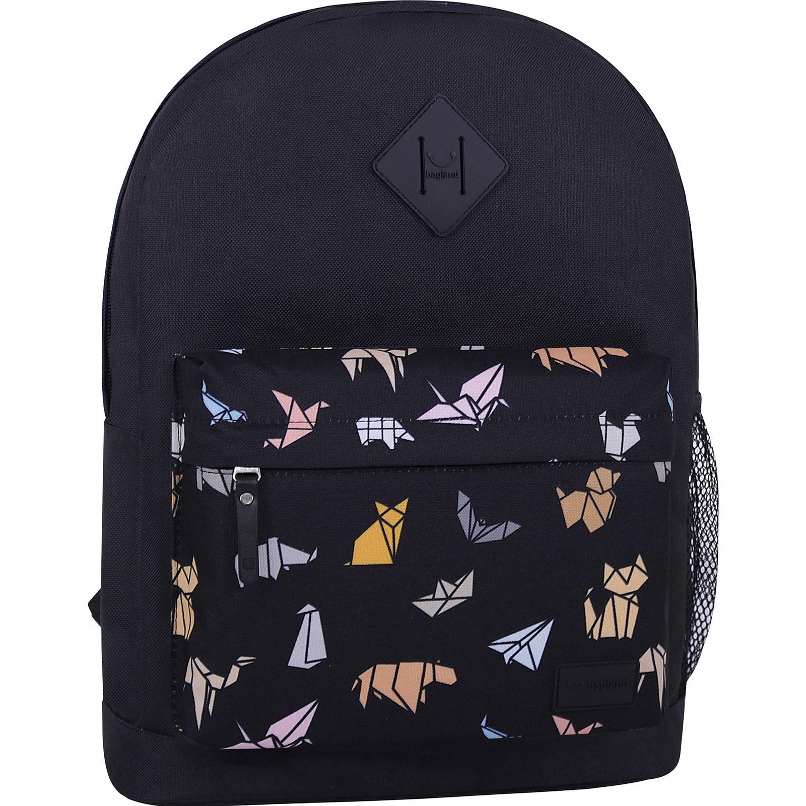 Городские рюкзаки Рюкзак Bagland Молодежный W/R 17 л. Чёрный 752 (00533662) IMG_7300_суб.752_.JPG