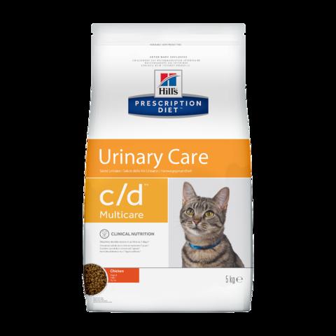 Hill's Prescription Diet c/d Multicare Urinary Care Сухой диетический корм для кошек при лечении и профилактике цистита и мочекаменной болезни с курицей