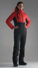 Женский утеплённый прогулочный лыжный костюм Nordski Montana Red-Black