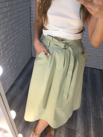 длинная зеленая юбка nadya
