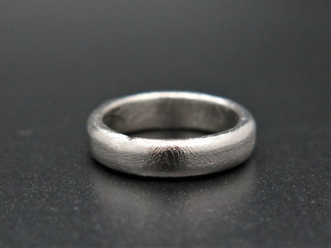 Кольцо из метеорита Муонионалуста. Размер 16,5