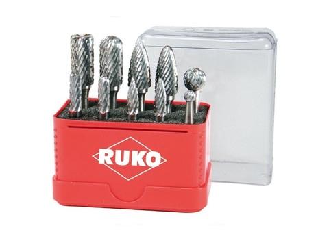 Набор бор-фрез твердосплавных 10шт Mini-Box HM S=6мм Ruko 116002