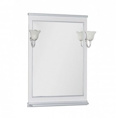 Зеркало Aquanet Валенса 80 белый краколет серебро