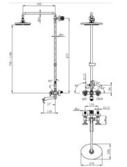 Душевая система KAISER Trio 57288 Bronze  схема