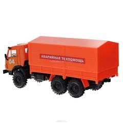 KAMAZ-4310 Emergency Technical Assistance orange 1:43 Technopark