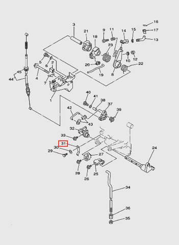 Пружина механизма управления для лодочного мотора T15, OTH 9,9 SEA-PRO (12-31)