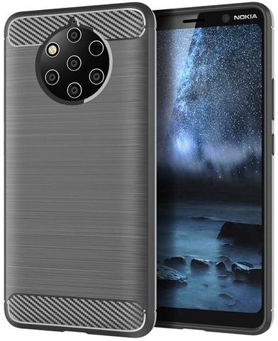 Чехол Nokia 9 PureView цвет Gray (серый), серия Carbon, Caseport