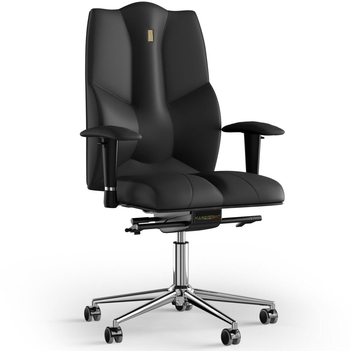 Кресло KULIK SYSTEM BUSINESS Экокожа без подголовника без строчки