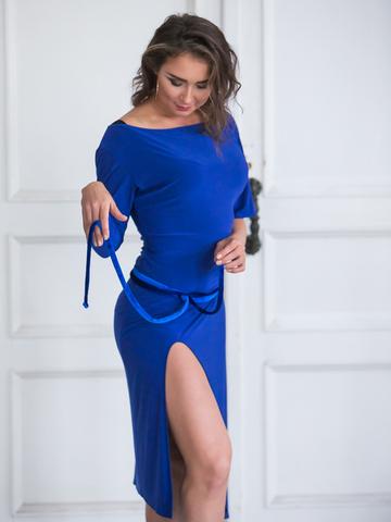 Платье для танцев с поясом