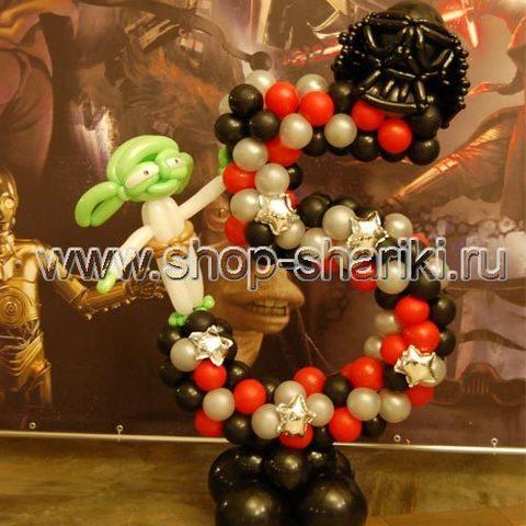 shop-shariki.ru цифра 5 из воздушных шаров Звёздные Войны