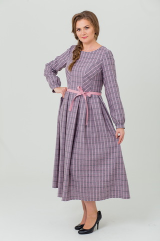 Платье льняное Розовый вечер