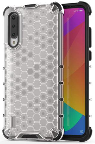 Чехол в прозрачном корпусе на Xiaomi Mi 9 Lite и A3 Lite от Caseport, серия Honey
