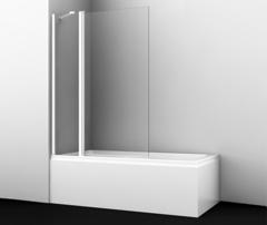 Шторка для ванны WasserKRAFT Berkel 48P02-110WHITE Fixed белый профиль, с фиксатором