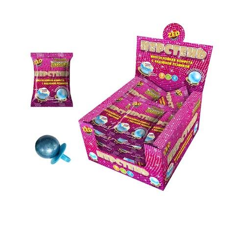 ЗУБОДРОБИЛКА Перстень многослойная конфета с надувной резинкой, 1кор*12бл*20 шт. 21гр