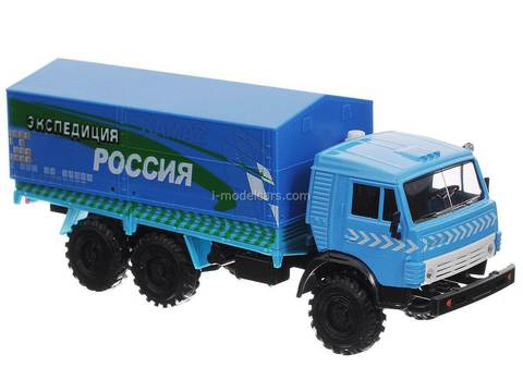 KAMAZ-4310 Expedition blue 1:43 Technopark