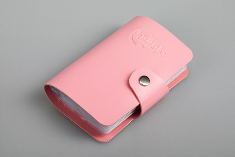 Кейс для пластин Swanky Stamping, на 20 пластин, розовый
