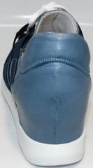 Туфли женские на танкетке Ledy West 1484 115 Blue.