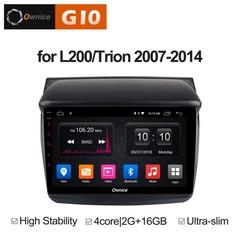 Штатная магнитола на Android 8.1 для Mitsubishi L200 07-14 Ownice G10 S9635E