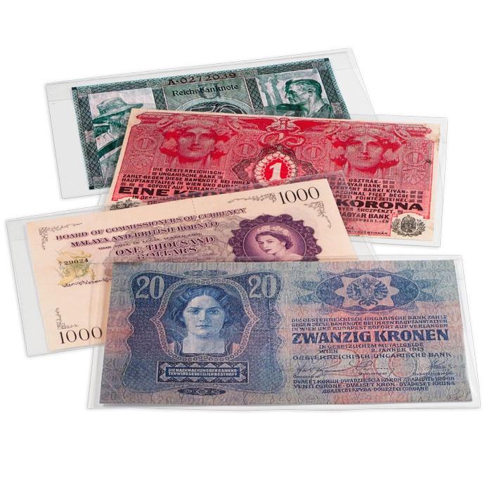 Защитный пластиковый конверт PREMIUM для банкнот, 210x127 mm