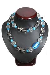 Комплект Onda del mare цвет голубой (серьги и ожерелье)