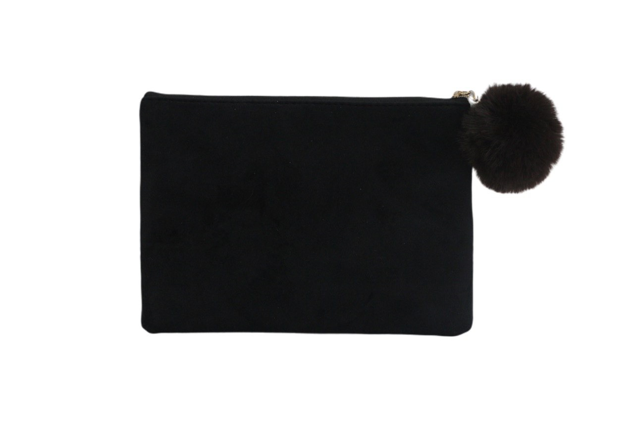 Косметичка - клатч бархатная Velvet Black