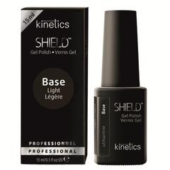 KINETICS База для гель-лака. Идеально легкая база для здоровых и крепких ногтей SHIELD Light Base, 15 мл