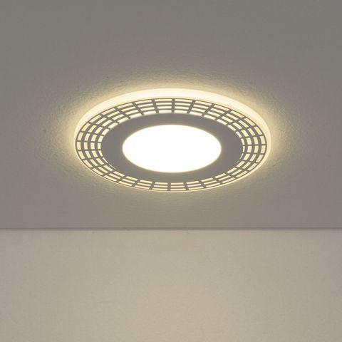 Встраиваемый потолочный светодиодный светильник DSS001 7+3W 4200K