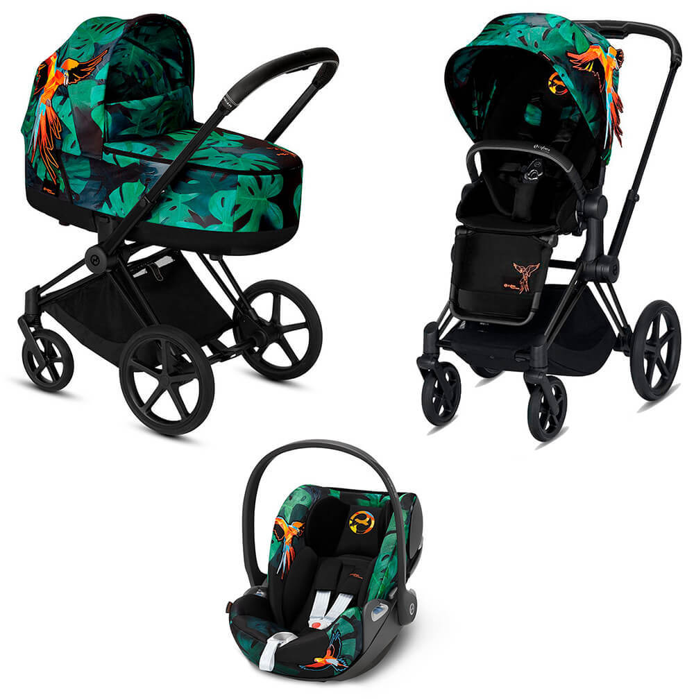 Цвета Cybex Priam 3 в 1 Детская коляска Cybex Priam III 3 в 1 FE Birds of Paradise шасси Matt Black cybex-priam-iii-3-in-1-fe-birds-of-paradise-black-matt.jpg