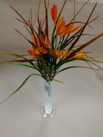 Зелень с цветами на вставке, 34см, оранжевый