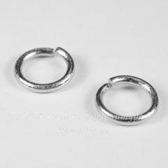 Комплект колечек одинарных 10х1,5 мм (цвет - античное серебро), 25 штук