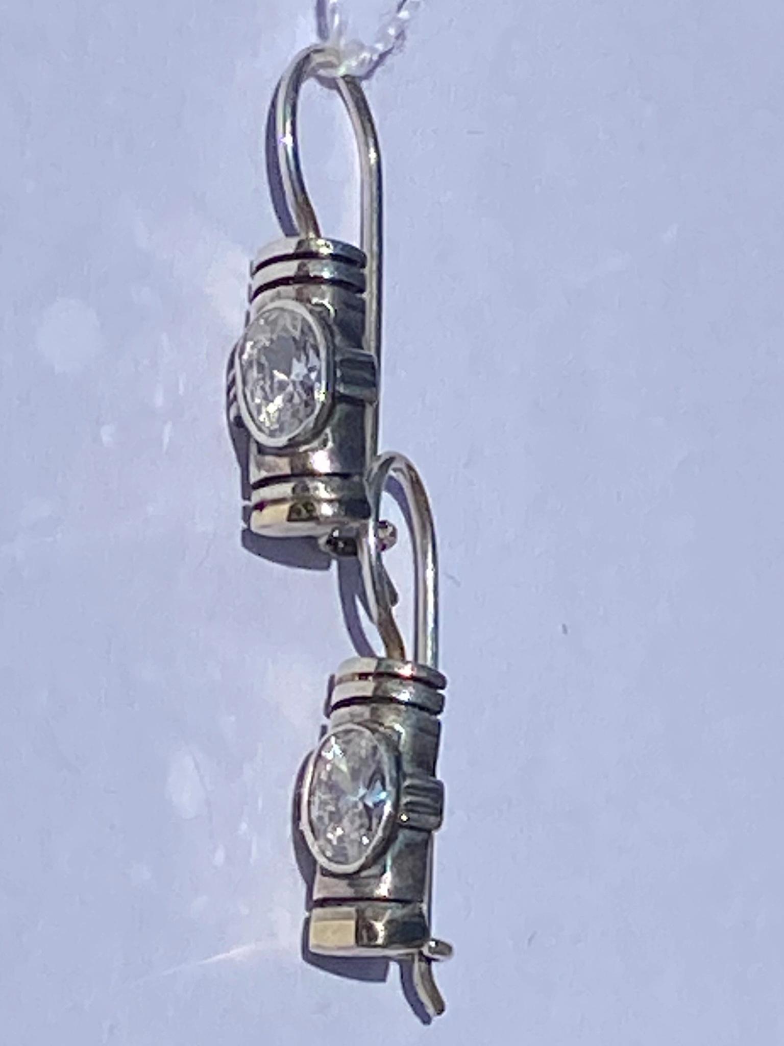 Циркон 58 (серьги из серебра/золота)