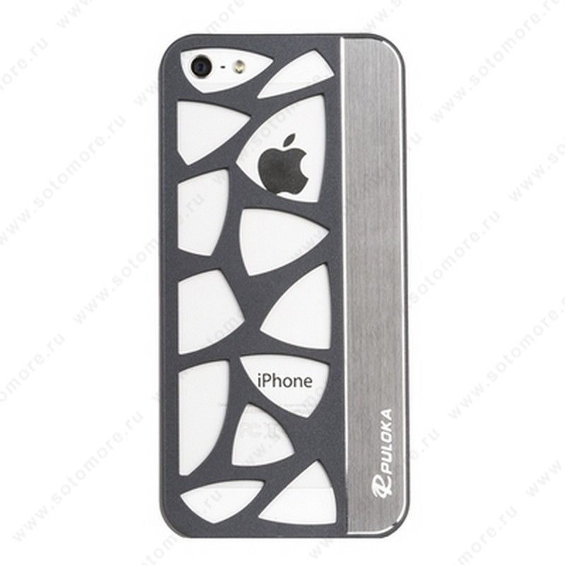 Накладка R PULOKA для iPhone SE/ 5s/ 5C/ 5 с отверстиями серая