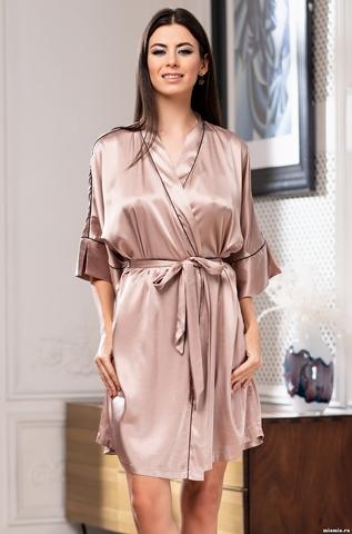 Короткий халат Mia-Amore Gabriela 3663 (70% нат.шелк)