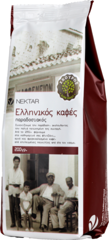 Греческий кофе сильной обжарки Nectar 200 гр