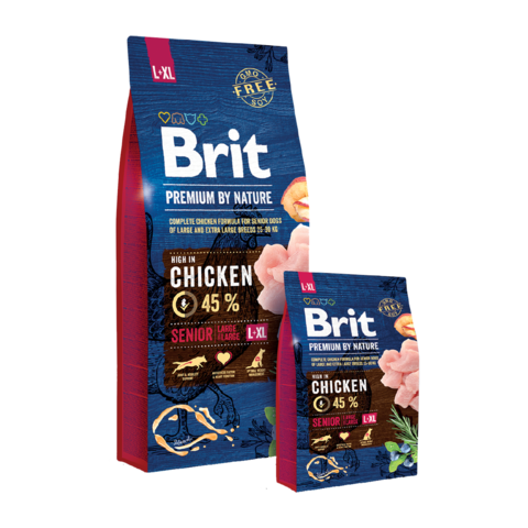 Brit Premium By Nature Senior L+XL Сухой корм для пожилых собак крупных и гигантских пород
