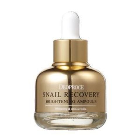 DEOPROCE Snail Сыворотка на основе муцина улитки DEOPROCE SNAIL RECOVERY BRIGHTENING AMPOULE  30гр