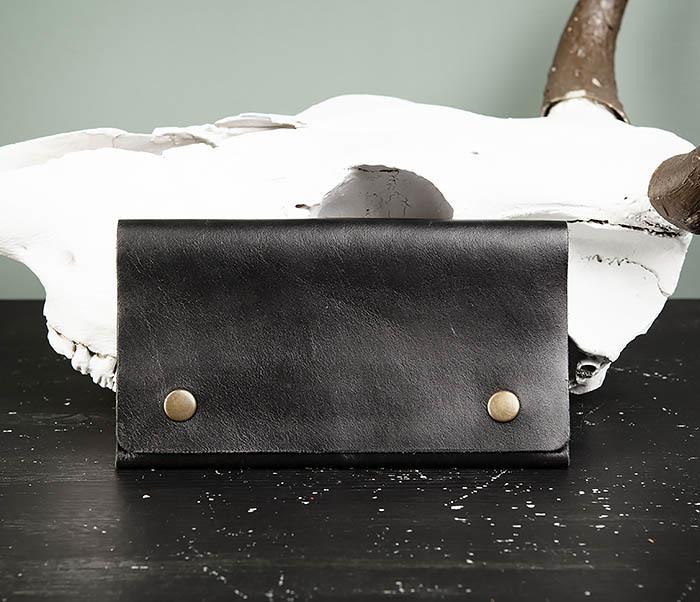 Boroda Design, Мужской тонкий клатч из натуральной кожи