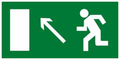 Е06 Эвакуационный знак - Направление к эвакуационному выходу налево вверх