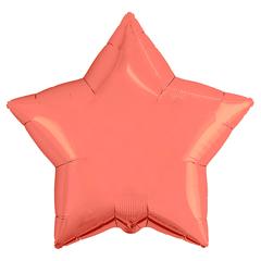 Шар звезда коралловый