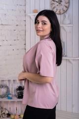 Хильда. Нежная женская блуза больших размеров. Фрезовый