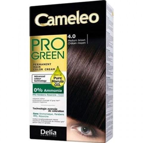 Delia Cosmetics Cameleo Pro Green Краска для волос тон 4.0 коричневый