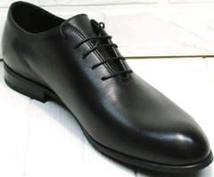 Дорогие мужские туфли классика Ikoc 063-1 ClassicBlack.